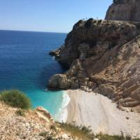 The dazzling blue waters of the Lycian Coast meet Turkey's rugged landscape