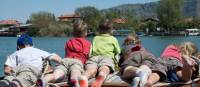 Kids on boat at Dalyan on the Lycian Coast of Turkey |  <i>Kate Baker</i>