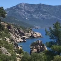 The wild terrain of the Lycian Coast in Turkey