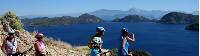 Cyclists take in the impressive scenes along the Lycian Coast