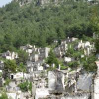 The deserted Greek town of Kayaköy on the Turkish coast   Kate Baker