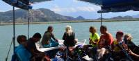 The bikes are loaded on to the small boat which takes the group to the Dalyan rock tombs |  <i>Erin Williams</i>