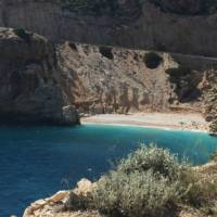 A perfect opportunity for a swim break while cycling from Kas to Finike on the Lycian Coast Cycle