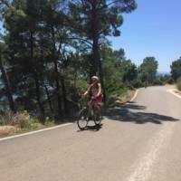 Enjoying the cycle to Adrasan Bay on the Lycian Coast