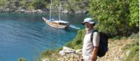 Hiker taking in the view of the Lycian Coast |  <i>Kate Baker</i>