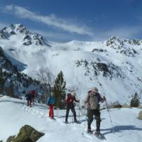 Snowshoeing in the magical Pyrenees in France