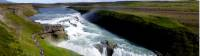 Gullfoss (translated as 'Golden Falls') is Iceland's most popular waterfall