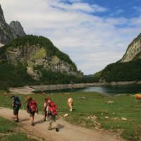 Around the Lake and mountains of Hinterer Gosausee, Austria