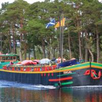 Barge on the Caledonian Canal