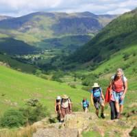 Walkers on the Coast to Coast trail, England