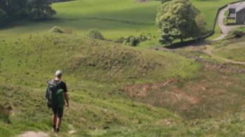 Descending by Hadrians Wall | John Millen