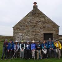 Coast to Coast Trail group resting at Shooting Hut   John Millen
