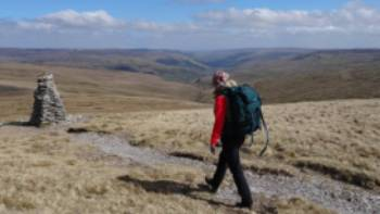 Reaching the Great Shunner Summit, Yorkshire Dales