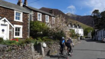 Cyclists  through Threlkeld | John Millen