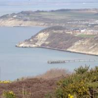 Walking above Colwell Bay