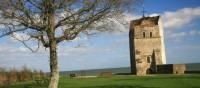Strolling past St Helen Chapel, Seaview