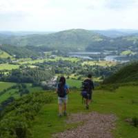 Walking through the Lake District with stunning views.   Jac Lofts