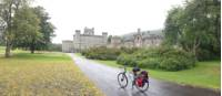 Taking a break at Castle Menzies |  <i>Scottish Highlands Cycle</i>