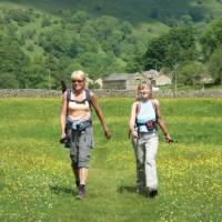 Coast to Coast walkers in Swaledale near Muker