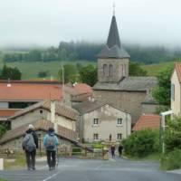 Walking into St. Bonnet le Froid