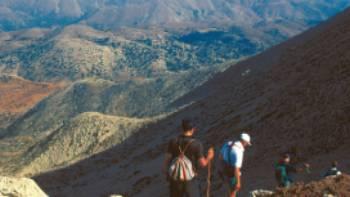 Descending Mount Gingilos