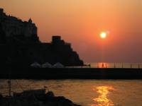 Amalfi harbour at dawn