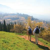 Walking into Assisi