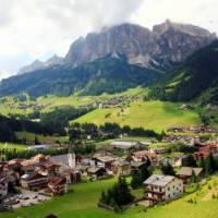 Picturesque village of Corvara, Italy