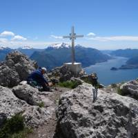 Beautiful views from the summit of Monte Grona