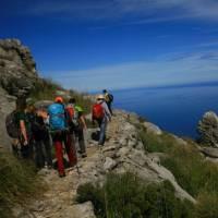 Walkers on the Puig Roig Round   John Millen