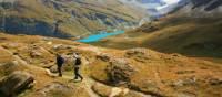 Descending from Col de Torrent on the Alpine Pass Route in Switzerland   John Millen
