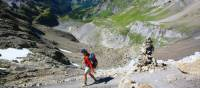 Hiking the Hohturli Pass on the Alpine Pass Route