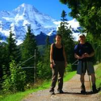 Walking in the Alps   Murren, Switzerland