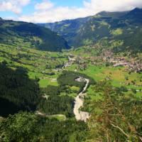 Amazing views over Grindelwald on our walks around Meiringen