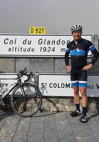 Brendan on Col du Glandon
