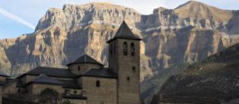 Torla in Spain is the gateway to the Parque Nacional de Ordesa and Monte Perdido