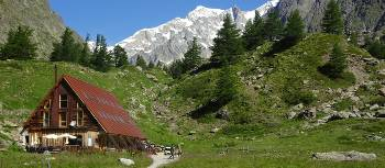 Staying in traditional mountain huts or refuges are a highlight for many when walking in the Mont Blanc region