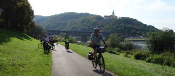 Discover the Czech countryside and idyllic river landscapes as you cycle from Prague to Dresden