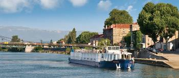 MS Provence on the river in Tournon