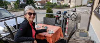 Coffee stop at Libano after a long hill climb out of Belluno | Rob Mills