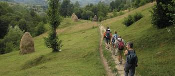 Walking in the northeastern Carpathian Mountains