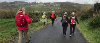 Group walking & writing their way to Santiago with Stephanie Dale | Stephanie Dale