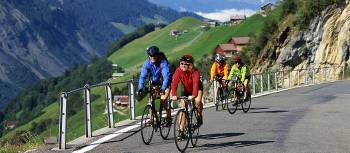 Cycling on the scenic Swiss Alpine Panorama Route