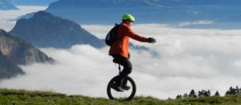 Hans Howald unicycling the Camino from Oslo | Hans Howald