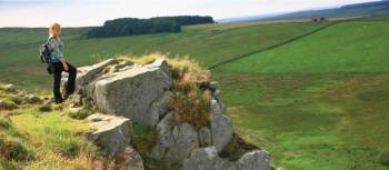 Hadrian's Wall near Crag Lough