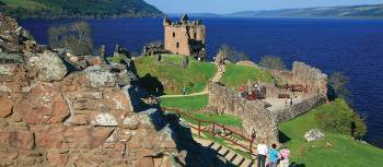 Magnificently situated Urquhart Castle, on the banks of the Loch Ness