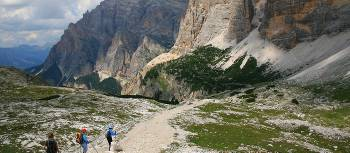 Descending towards the Utia Scotoni Hut, The Dolomites