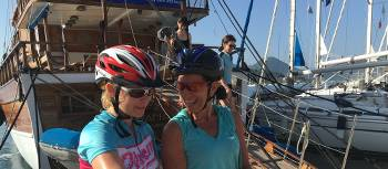 Our guide on a bike & sail trip in Greece shares directions for the day
